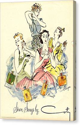 Coty 1940s Uk Womens Canvas Print by The Advertising Archives