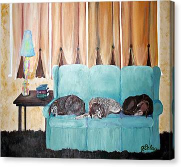 Couch Potatoes Canvas Print by Gail Daley