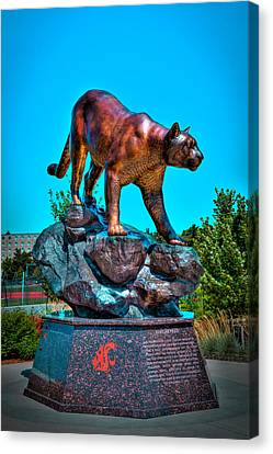 Cougar Pride Sculpture - Washington State University Canvas Print