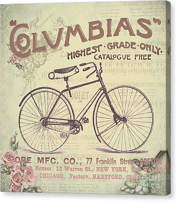 Coulmbias Bicycle Company Vintage Artwork Canvas Print by Art World