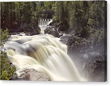 Coulonge Falls Canvas Print by Eunice Gibb