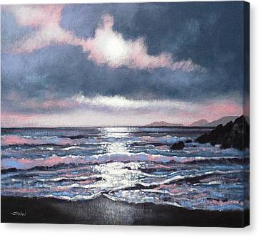 Coumeenole Beach  Dingle Peninsula  Canvas Print by John  Nolan
