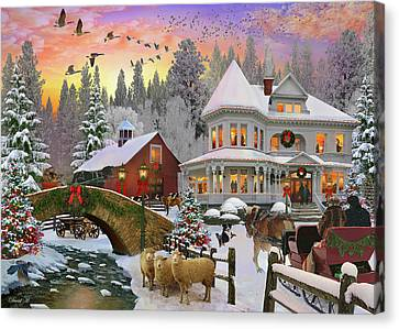 Counrty Christmas Canvas Print by David M ( Maclean )
