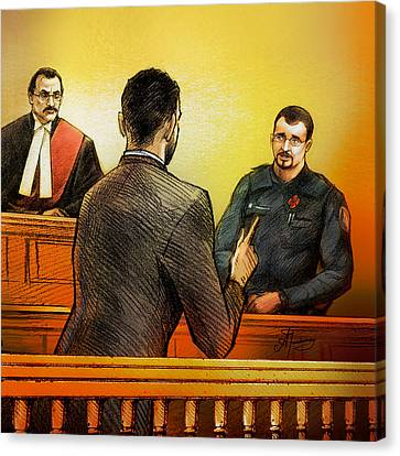 Counsel Harval Bassi Questions A Witness Canvas Print