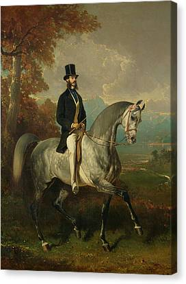 Count Alfred De Montgomery 1810-91 1850-60 Oil On Canvas Canvas Print
