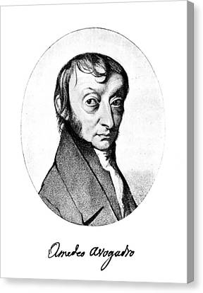 Autographed Canvas Print - Count Amedeo Avogadro (1776-1856) by Granger