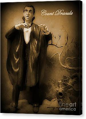 Count Dracula In Sepia Canvas Print