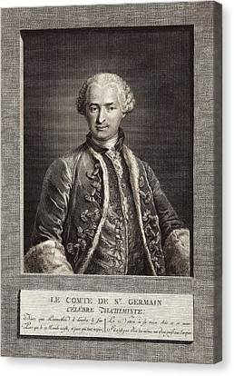 Count Of St Germain, French Alchemist Canvas Print by Science Photo Library