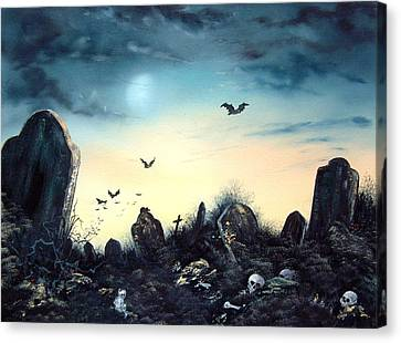 Headstones Canvas Print - Count The Eyes by Jean Walker