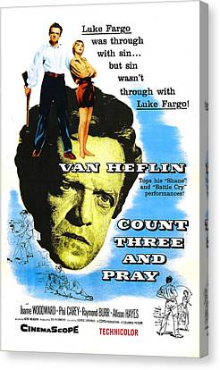 Count Three And Pray, Us Poster, Van Canvas Print by Everett