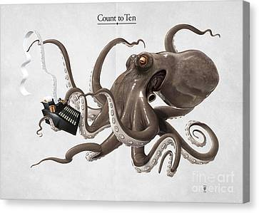 Count To Ten Canvas Print by Rob Snow