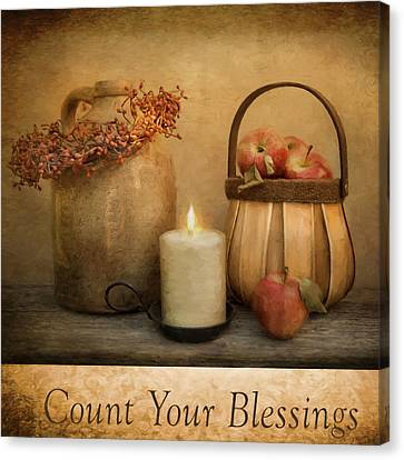 Count Your Blessings Canvas Print