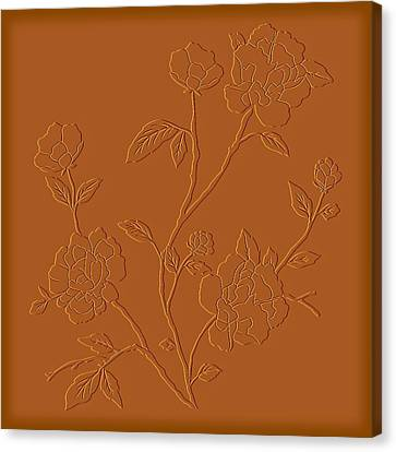 Counting Flowers On The Wall Canvas Print