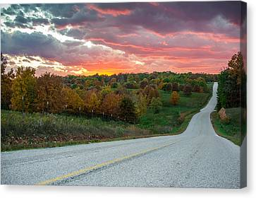 Canvas Print featuring the photograph Country Back Roads - Northwest Arkansas by Gregory Ballos