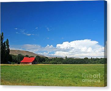 Country Barn Canvas Print by Chuck Flewelling