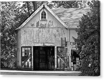Country - Barn Country Maintenance Canvas Print by Mike Savad