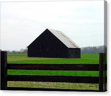 Country Barn Canvas Print by Karen Wallace