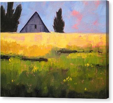 Wa Canvas Print - Country Barn by Nancy Merkle