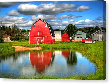 Country Barnyard Canvas Print by Larry Trupp