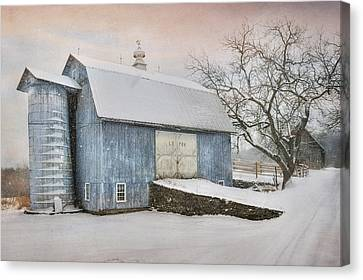 Country Blue Canvas Print by Lori Deiter