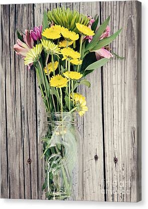 Country Bouquet Canvas Print by Kim Fearheiley