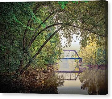 Country Bridge Canvas Print by William Schmid