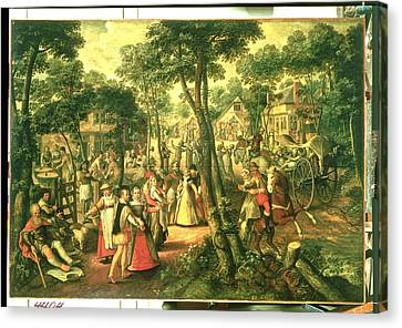 Country Celebration, 1563 Oil On Canvas Canvas Print by Joachim Beuckelaer or Bueckelaer