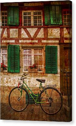 Cabin Window Canvas Print - Country Charm by Debra and Dave Vanderlaan