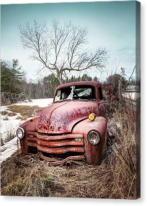 Country Chevrolet - Old Rusty Abandoned Truck Canvas Print