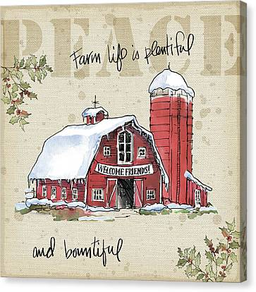 Country Christmas I Canvas Print by Anne Tavoletti