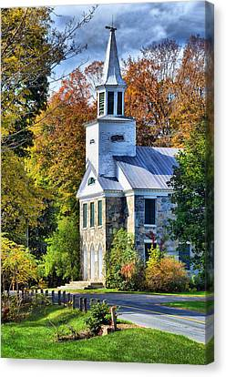 Canvas Print featuring the photograph Country Church by Barbara Manis