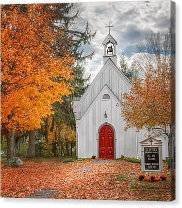 Country Church Canvas Print by Bill Wakeley