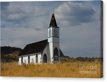 Country Church Canvas Print by Birches Photography