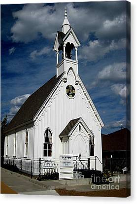 Country Church Canvas Print by Claudette Bujold-Poirier