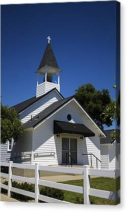 Country Church Canvas Print by Dee  Savage