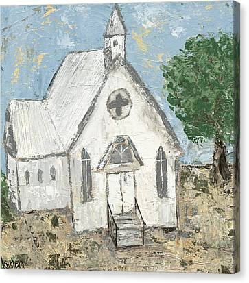 Country Church Canvas Print by Kirsten Reed