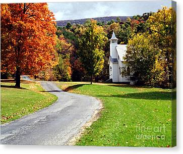 Canvas Print featuring the photograph Country Church by Tom Brickhouse