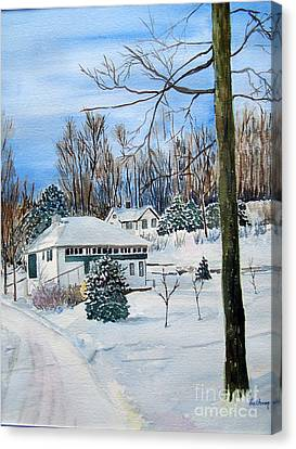Country Club In Winter Canvas Print