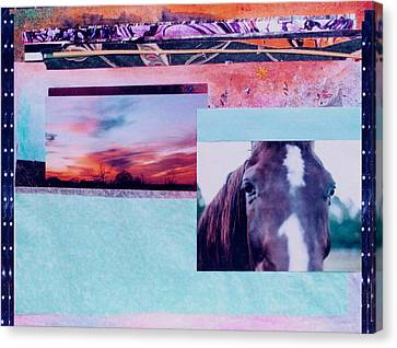 Country Collage 4 Canvas Print
