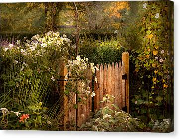Country - Country Autumn Garden  Canvas Print by Mike Savad