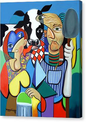 Country Cubism Canvas Print by Anthony Falbo