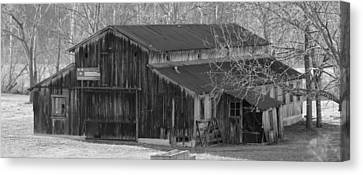 Country Dairy Barn Canvas Print by Houston Haynes