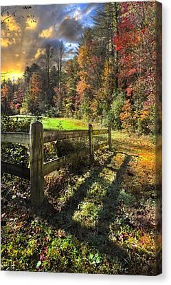 Country Dawn Canvas Print by Debra and Dave Vanderlaan
