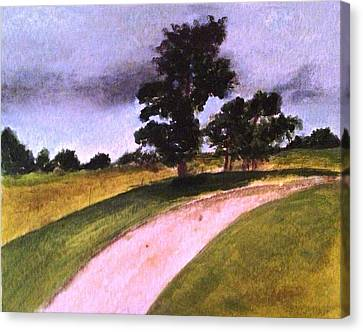 Country Driveway Canvas Print by Andrea Friedell
