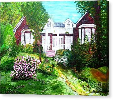 Country Estate In Spring Canvas Print
