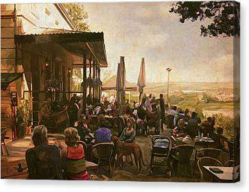 Canvas Print featuring the painting Country Estate Slavante By Briex by Nop Briex