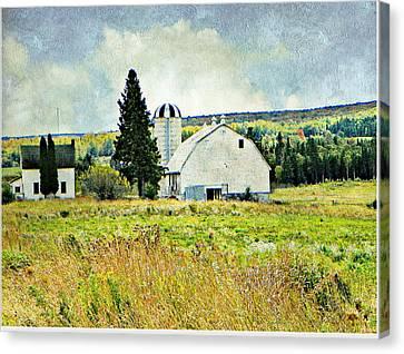 Country Farm Canvas Print by Dianne  Lacourciere