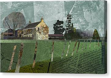 Country Farm Canvas Print by Kenneth North