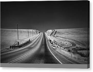 Country Farm Road Canvas Print by Anthony Citro