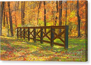 Country Fence Canvas Print by Geraldine DeBoer